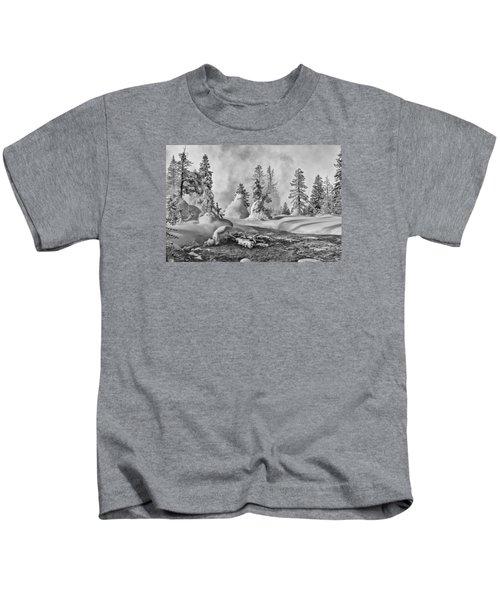 Yellowstone In Winter Kids T-Shirt