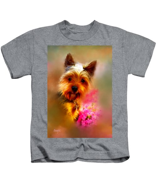 Yorkie Portrait Kids T-Shirt