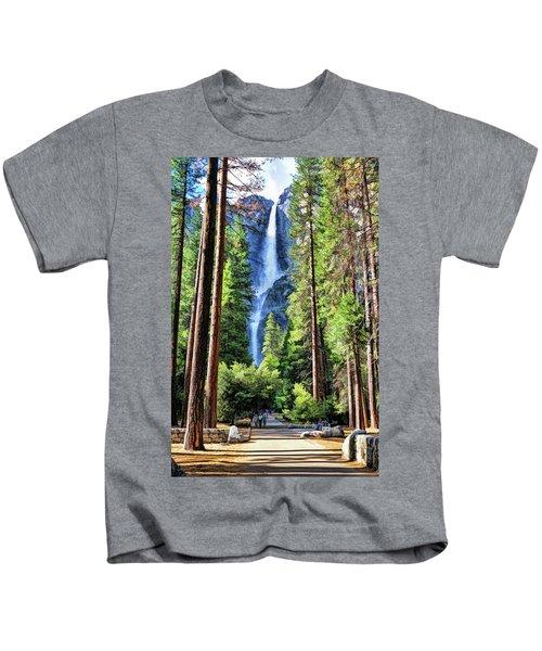 Yosemite National Park Bridalveil Fall Trees Kids T-Shirt