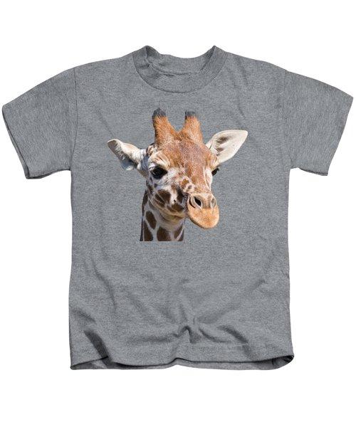 Young Giraffe  Kids T-Shirt by Scott Carruthers