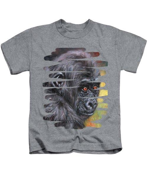 Young Gorilla Portrait Kids T-Shirt