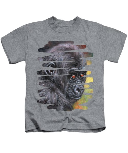 Young Gorilla Portrait Kids T-Shirt