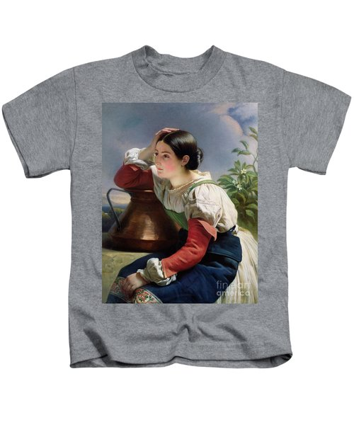 Young Italian At The Well Kids T-Shirt