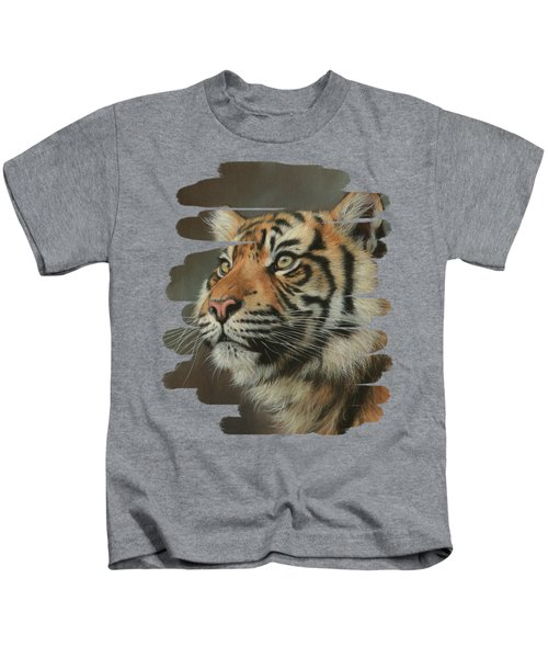 Young Sumatran Tiger Portrait Kids T-Shirt