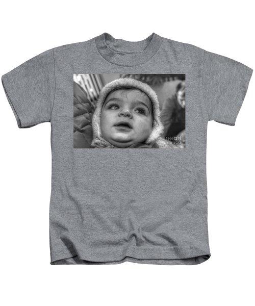 Youth In A Fleece Lined Cap Kids T-Shirt