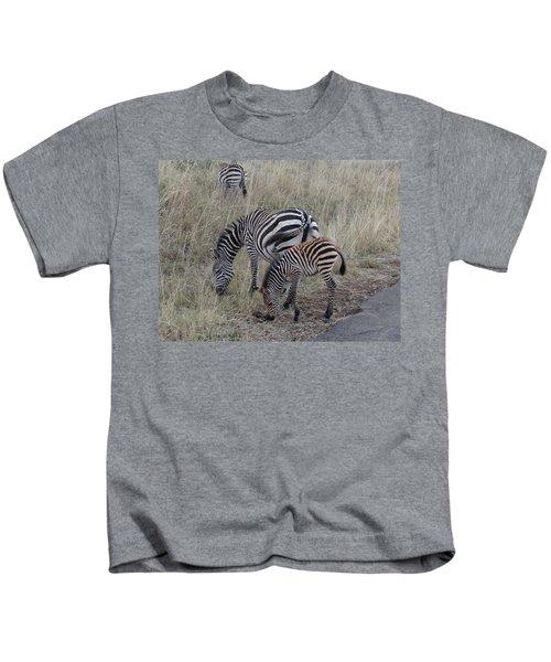 Zebras In Kenya 1 Kids T-Shirt by Exploramum Exploramum