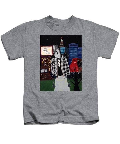 Zero And Under Goes To Tokyo Kids T-Shirt
