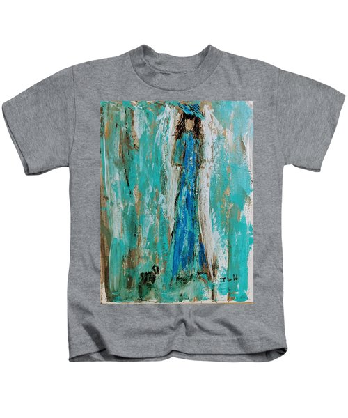 Angel With Her Pet Kids T-Shirt