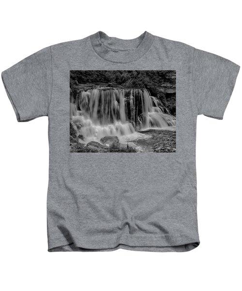 Blackwater Falls Mono 1309 Kids T-Shirt