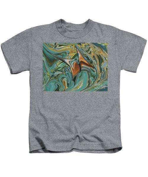 Bronze Butterfly Kids T-Shirt