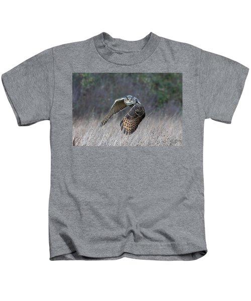 Eurasian Eagle Owl Flying Kids T-Shirt