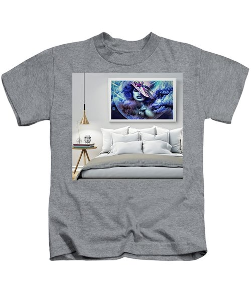 Lady Moon Light Kids T-Shirt