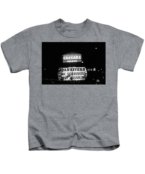 Las Vegas 1984 Bw #10 Kids T-Shirt