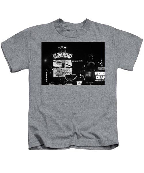 Las Vegas 1984 Bw #13 Kids T-Shirt