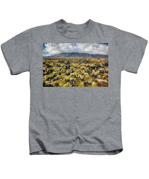 Lava Field Of Iceland Kids T-Shirt