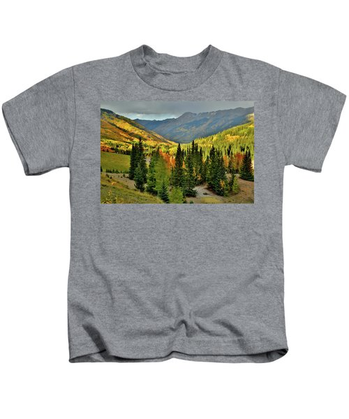 Looking North From Red Mountain Pass Kids T-Shirt