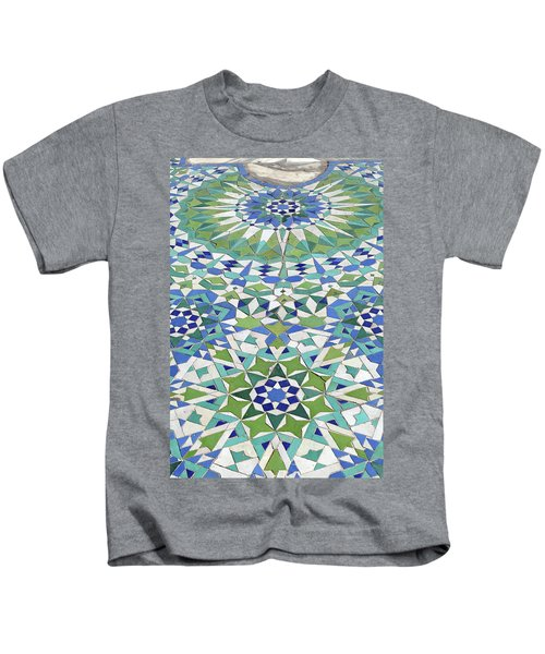 Mosaic Exterior Decorations Of The Hassan II Mosque Kids T-Shirt