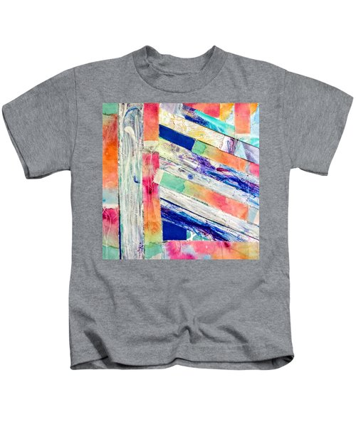 Kids T-Shirt featuring the painting Out Of Site, Out Of Mind by Tracy Bonin