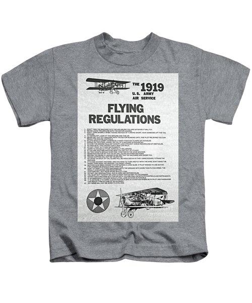 1919 Flying Regulations Poster Kids T-Shirt