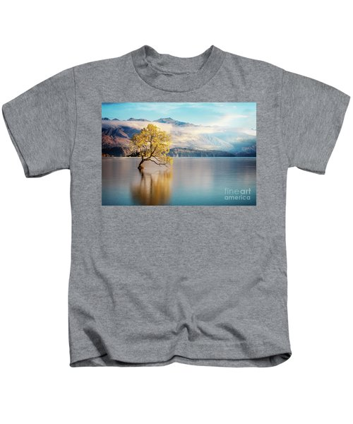 Alone And Determined Kids T-Shirt