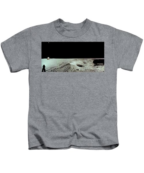 Apollo 11 Panorama Of The First Men Kids T-Shirt