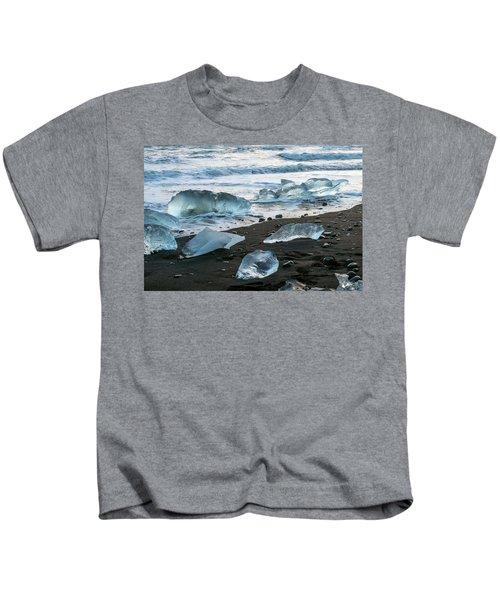 The Diamond Beach, Jokulsarlon, Iceland Kids T-Shirt