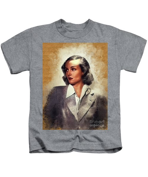 Carole Lombard, Vintage Movie Star Kids T-Shirt