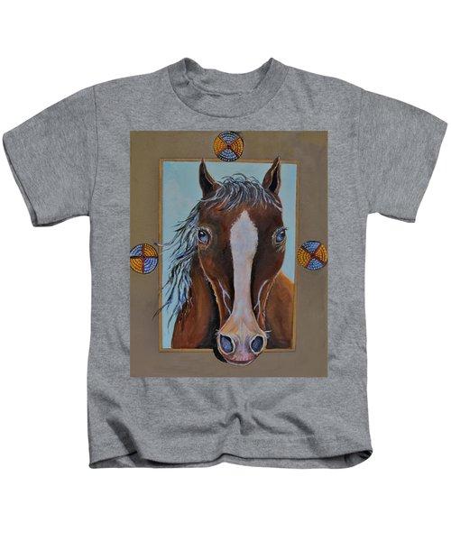 A Blue Eyed Horse Kids T-Shirt