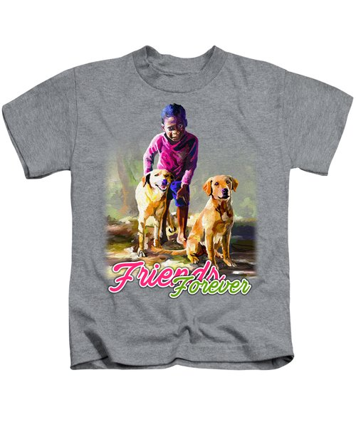 Boy And His Dogs Kids T-Shirt