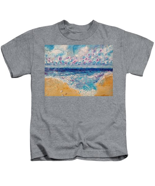 Kids T-Shirt featuring the painting A Drop In The Ocean by Tracy Bonin