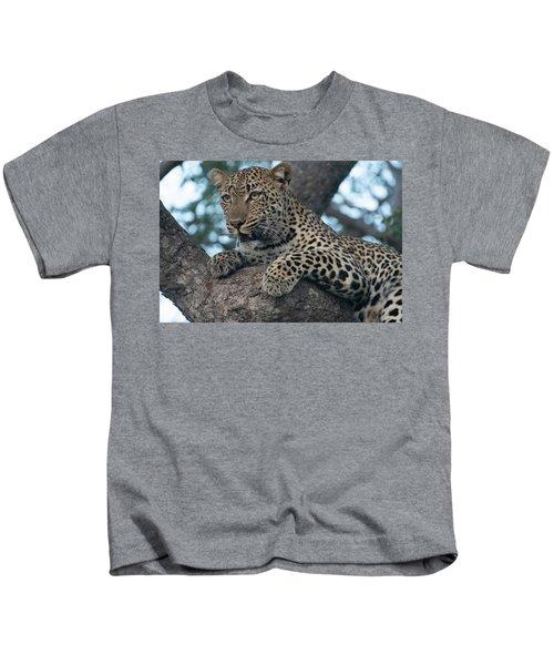 A Focused Leopard Kids T-Shirt