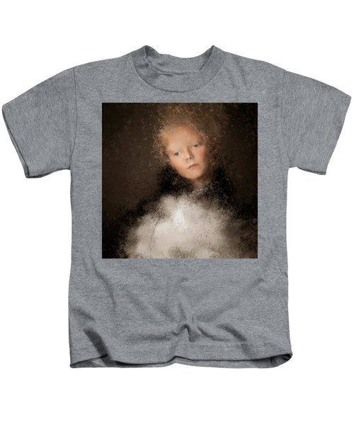A Girl With The Hand Fan Kids T-Shirt
