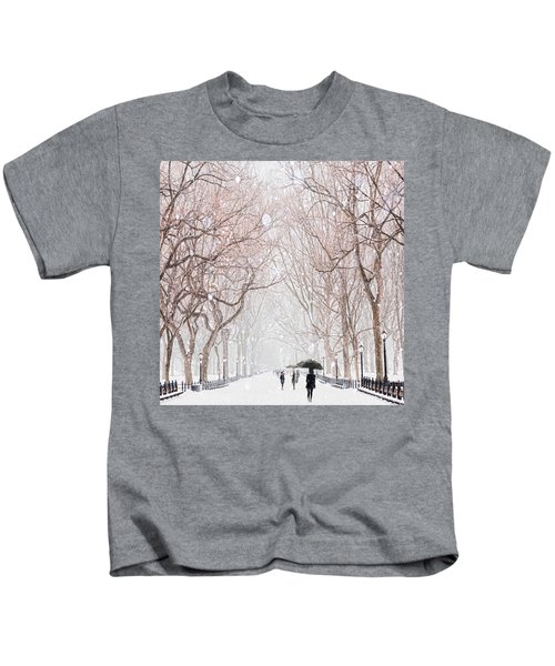 A Snowy Lane Kids T-Shirt