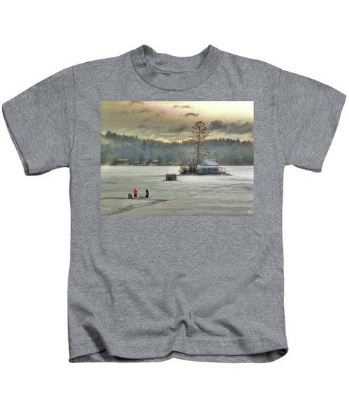 A Warm Glow On A Cool Scene Kids T-Shirt