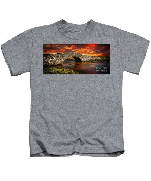 Aberffraw Bridge Sunset Kids T-Shirt