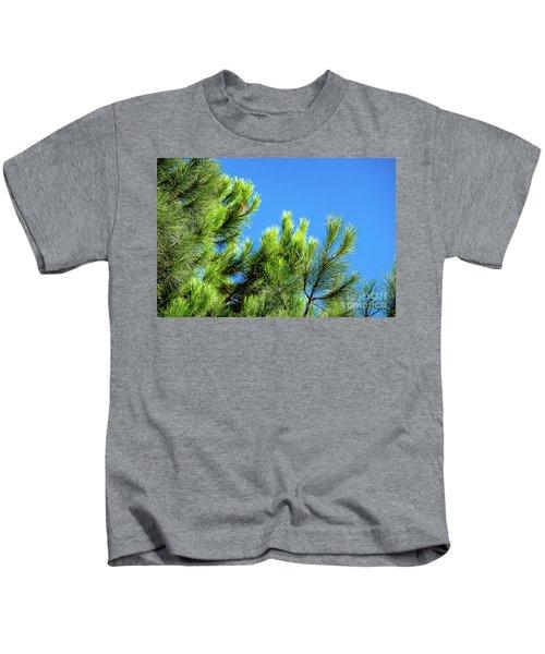 Adriatic Pine Against Blue Sky  Kids T-Shirt
