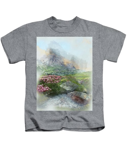 Afternoon Light In The Alps II Kids T-Shirt