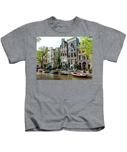 Along An Amsterdam Canal Kids T-Shirt