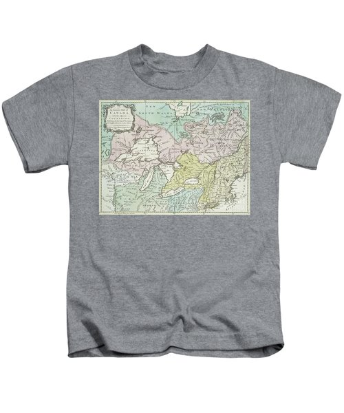 An Accurate Map Of Canada, With The Adjacent Countries, 1761  Kids T-Shirt