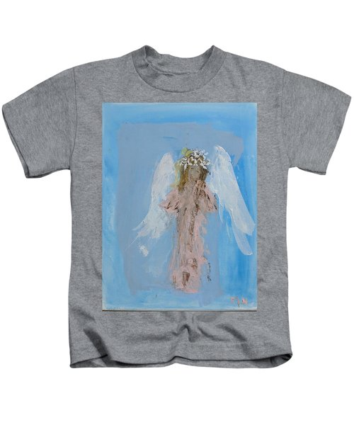 Angel With A Crown Of Daisies Kids T-Shirt