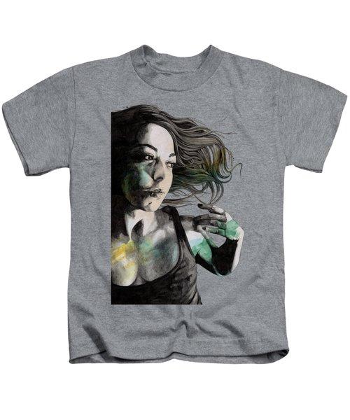 Anna - Sensual Woman Portrait, Sexy Girl In Tiny Tank Top Kids T-Shirt