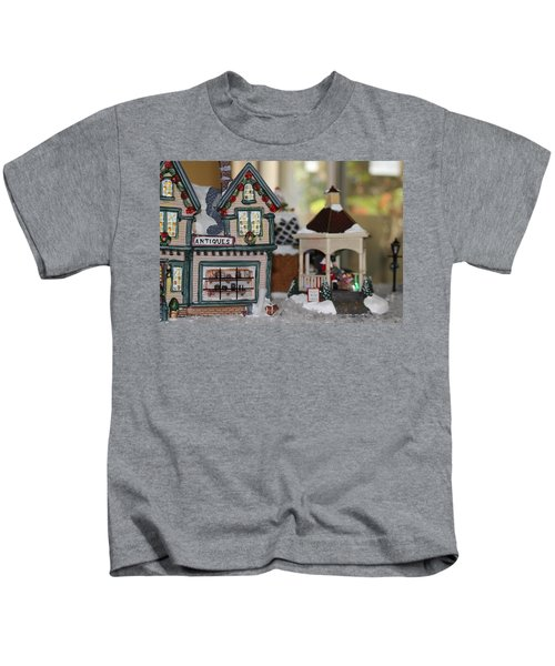 Antiques In Christmas Town Kids T-Shirt