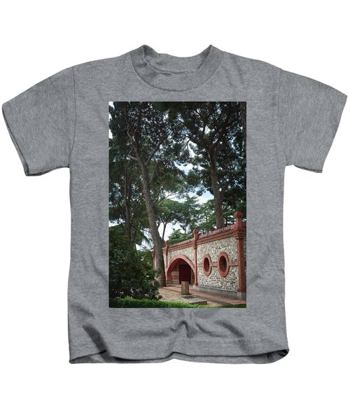 Architecture At The Gardens Of Cecilio Rodriguez In Retiro Park - Madrid, Spain Kids T-Shirt