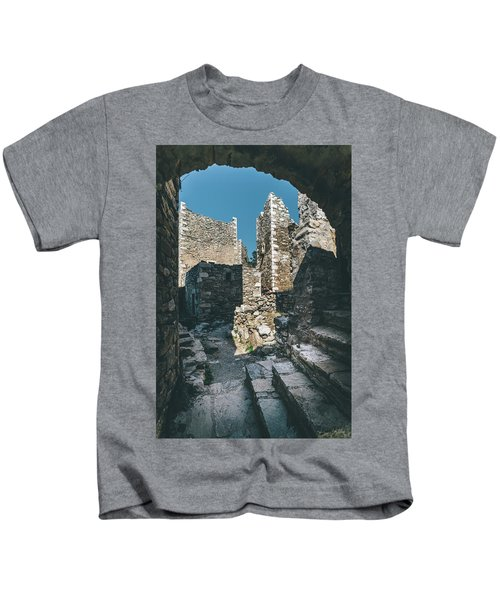 Architecture Of Old Vathia Settlement Kids T-Shirt