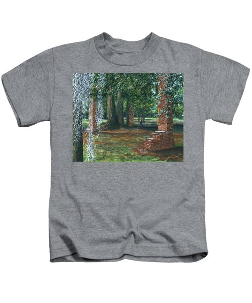 Ardoyne Ruins Near The Mansion, Houma, Louisiana Kids T-Shirt