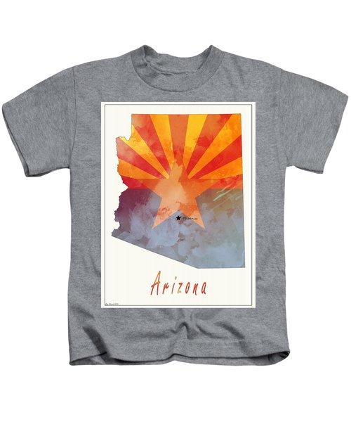 Arizona Map Style 4 Kids T-Shirt