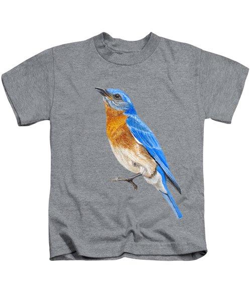 Cute Eastern Bluebird  Kids T-Shirt