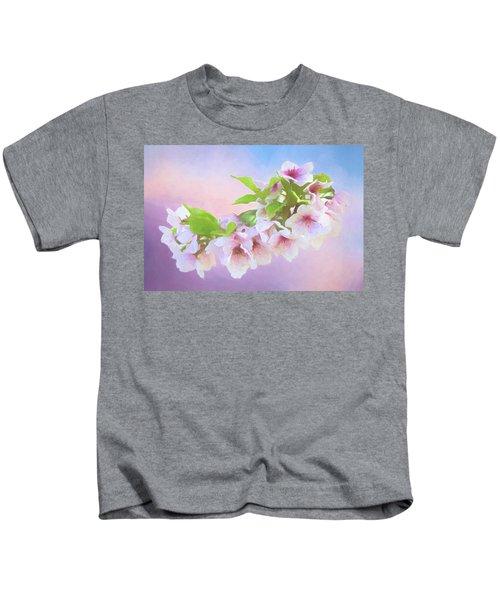 Charming Cherry Blossoms Kids T-Shirt