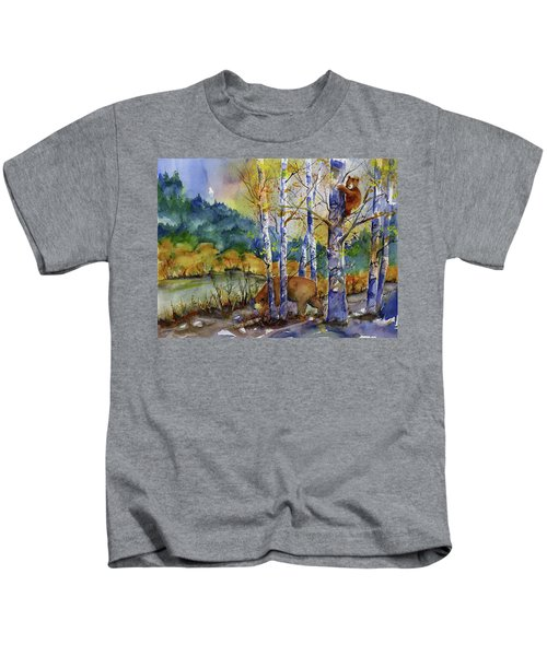 Aspen Bears At Emmigrant Gap Kids T-Shirt