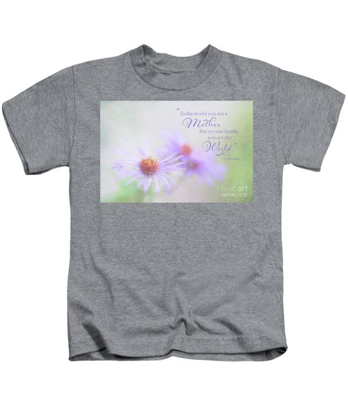 Asters For Mother's Day Kids T-Shirt
